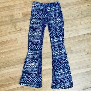 Tribal Print Soft Bell Bottoms Pants